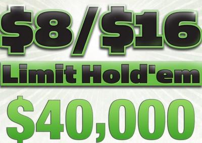 $8/$16 Limit Hold'Em