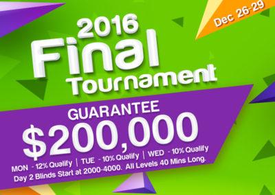2016 Final Tournament