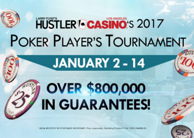 Hustler Casino's 2017 Tournament