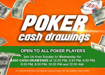 Poker Cash Drawings