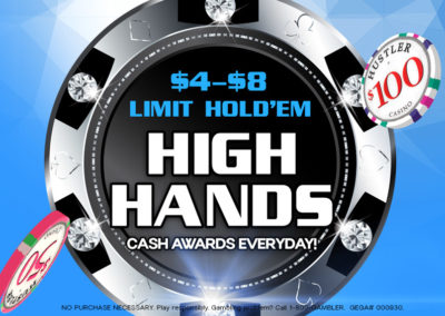 $4-$8 Limit Hold'Em High Hands