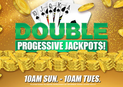 Double Progressive Jackpots