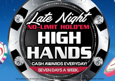 Late Night No-Limit Hold'em High Hands