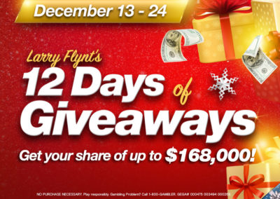 Larry Flynt's 12 Days of Giveaways