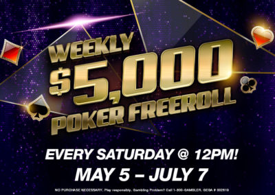Weekly $5,000 Poker Freeroll