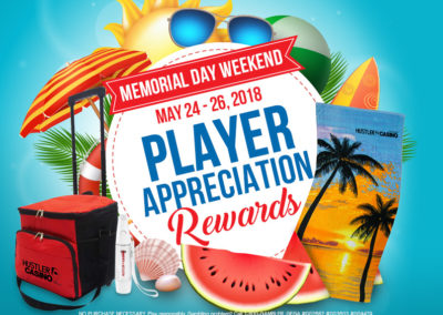 Memorial Day Weekend Players Appreciation Rewards
