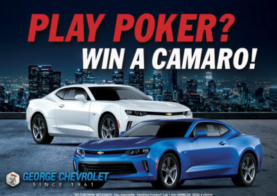 Play Poker? Win a Camaro!
