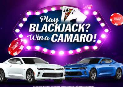 Play Blackjack? Win a Camaro!