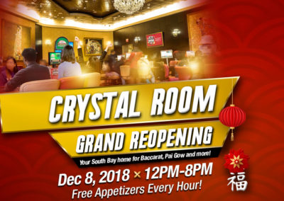 Crystal Room Grand Reopening