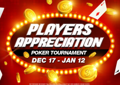 Players Appreciation Poker Tournament