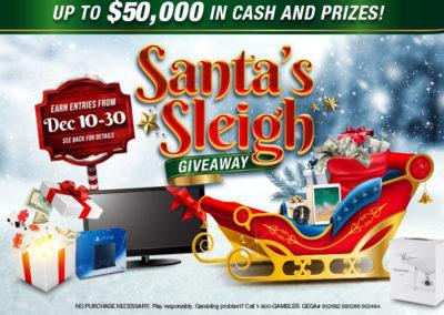Santa's Sleigh Giveaway