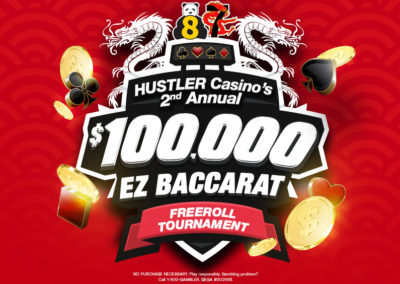 2nd Annual $100,000 EZ Baccarat Freeroll Tournament