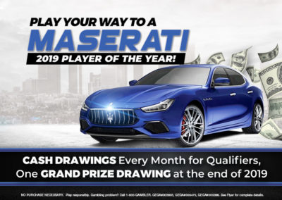 Play Your Way to a Maserati!