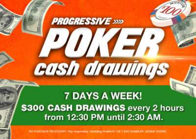 Progressive Poker Cash Drawings