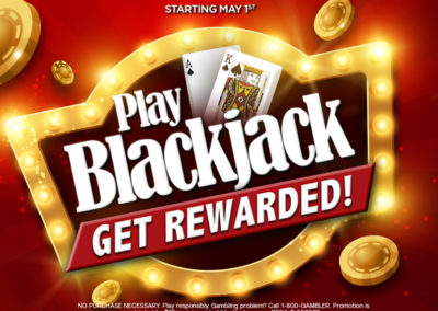Play Blackjack, Get Rewarded!