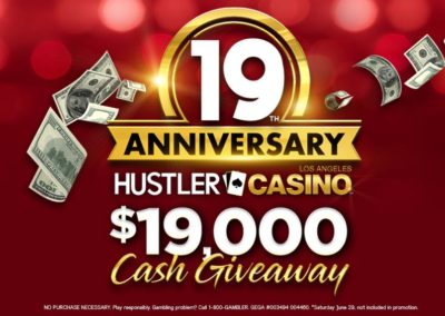 19th Anniversary $19,000 Cash Giveaway