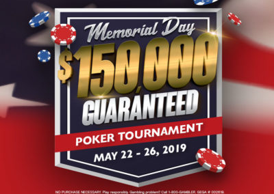 Memorial Day Poker Tournament