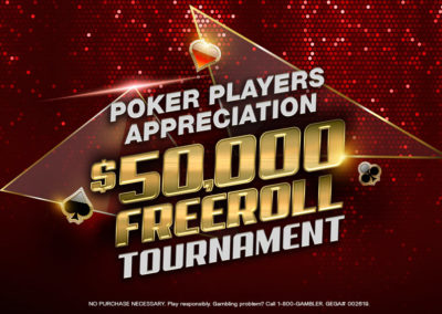 $50,000 Freeroll Tournament