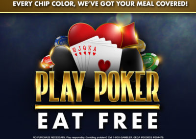 Play Poker, Eat Free!